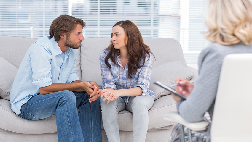 Couples counselling session